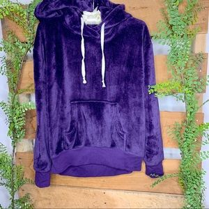 Xhilaration | Purple Fuzzy Sleepwear Hoodie